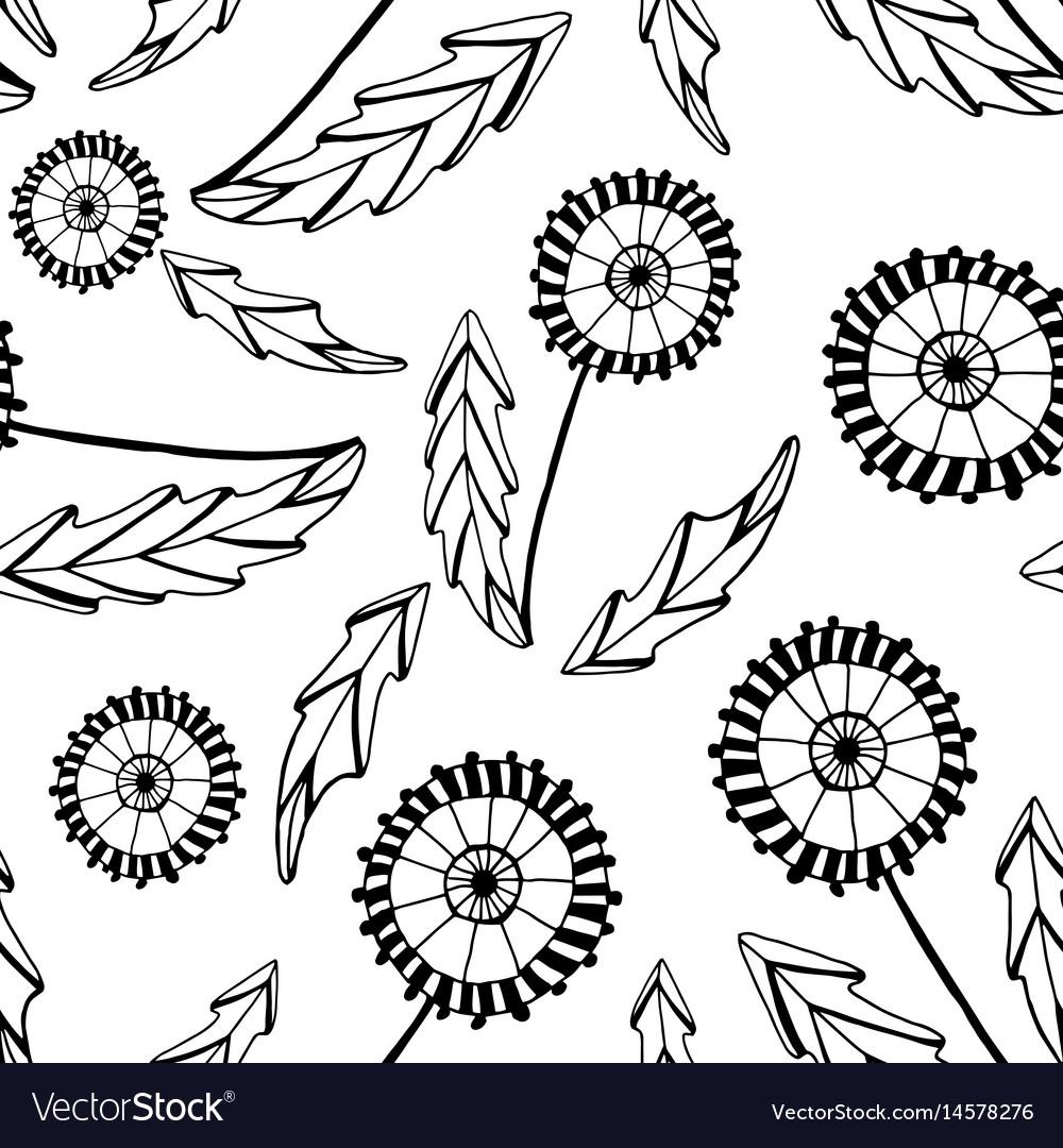 Abstract dandelions vector image