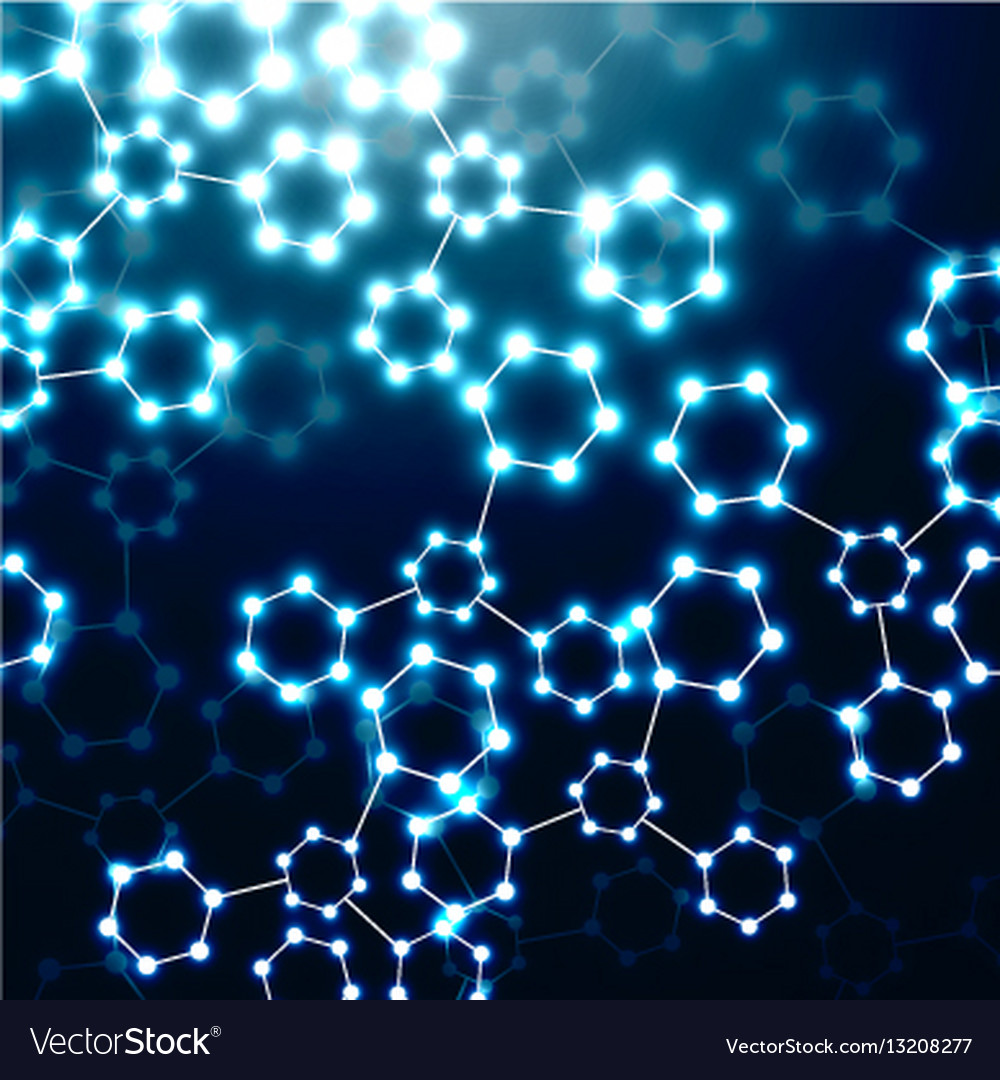 Abstract molecule dna molecular structure vector image