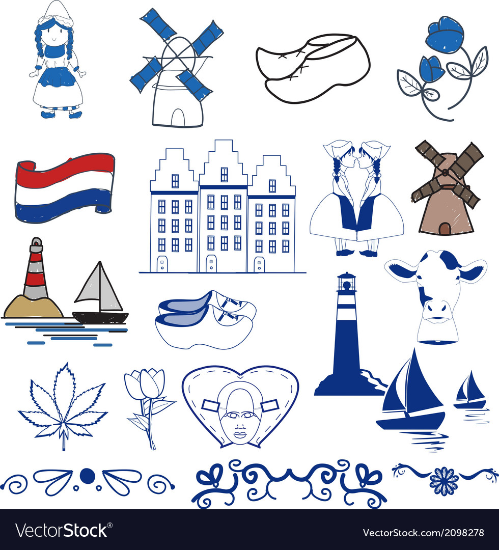 Dutch elements vector image