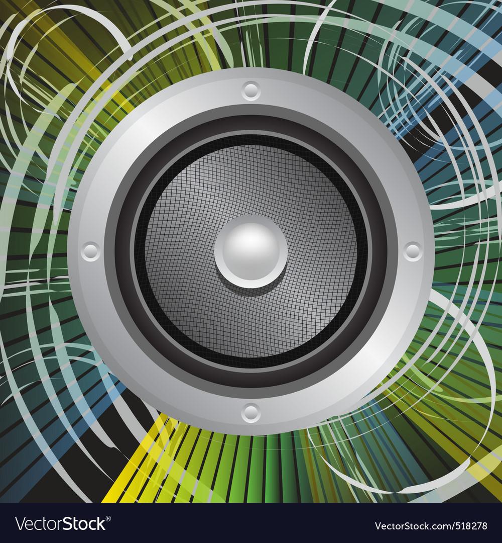 Grunge speaker vector image