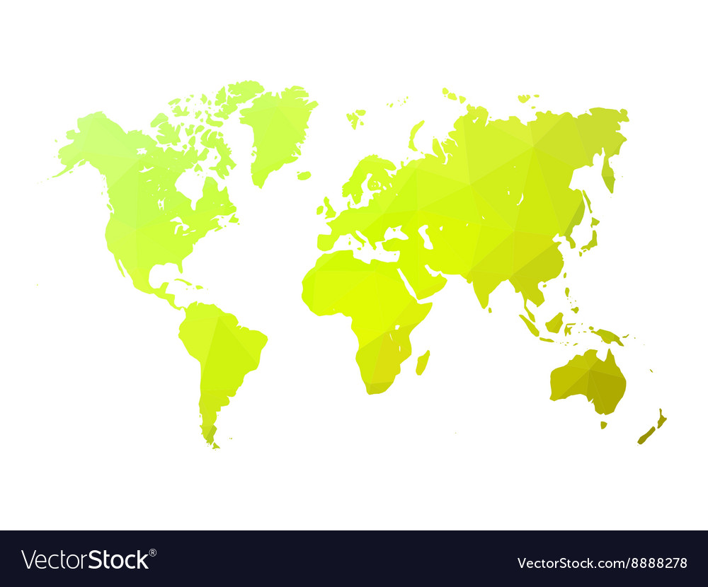 Low poly world map royalty free vector image vectorstock low poly world map vector image gumiabroncs Images