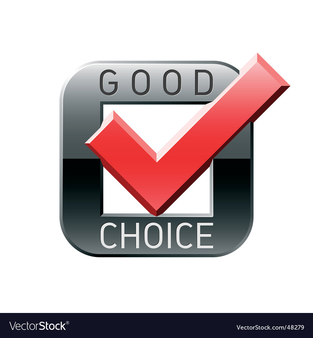 Good choice tick vector image