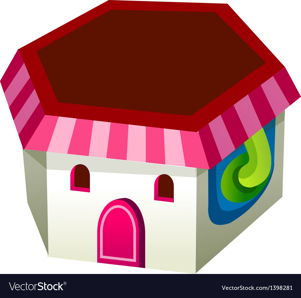 A view of house vector image