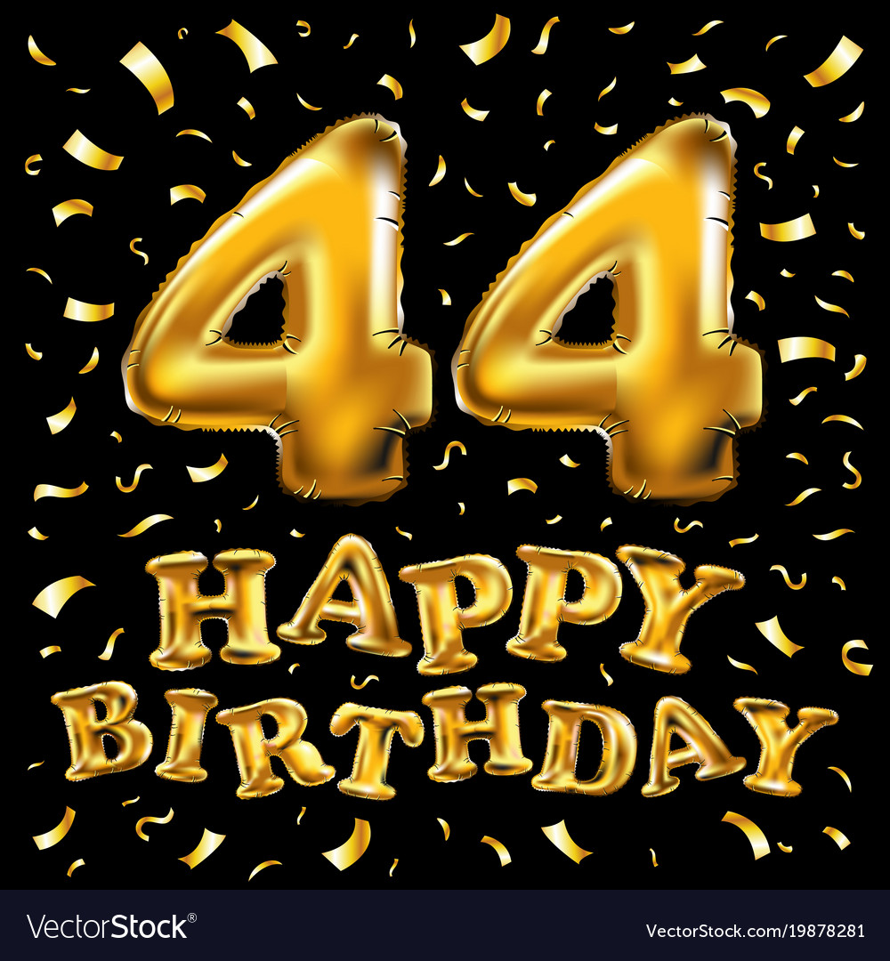 44 years anniversary happy birthday joy royalty free vector 44 years anniversary happy birthday joy vector image biocorpaavc Gallery