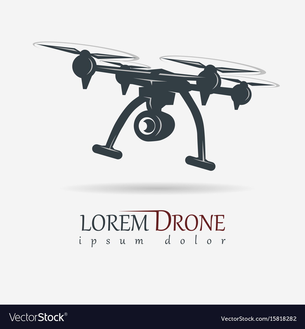 Drone with action camera quadrocopter vector image