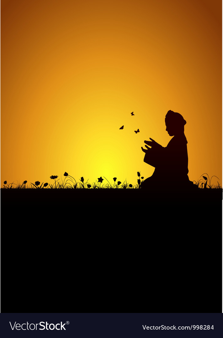 Child praying vector image