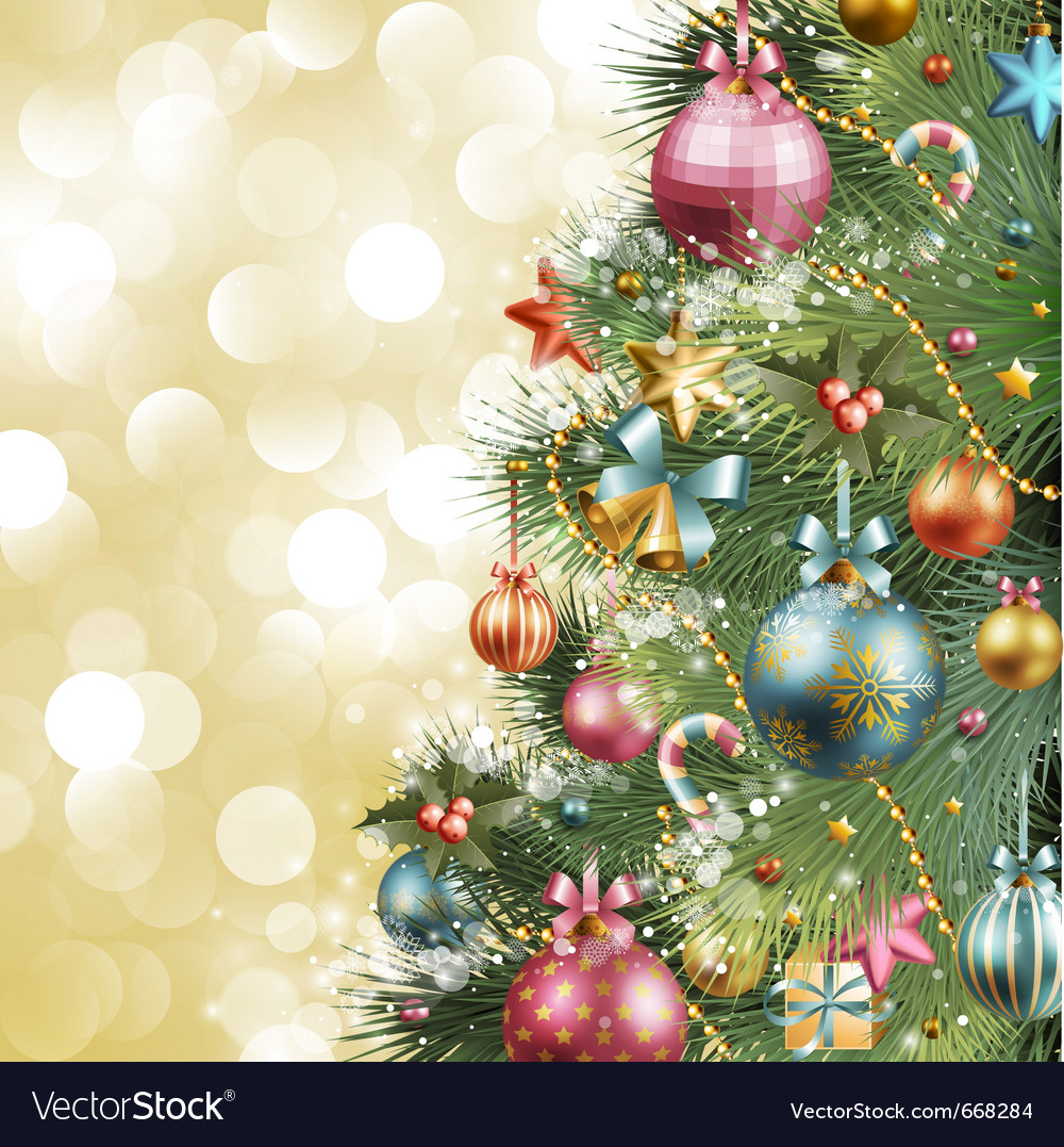 Christmas Vintage Background Royalty Free Vector Image