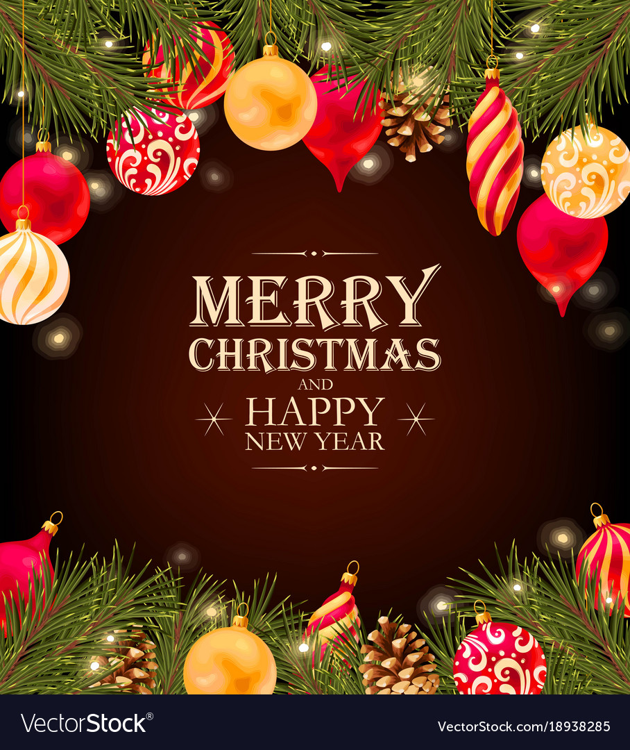 Merry christmas greeting postcard royalty free vector image merry christmas greeting postcard vector image kristyandbryce Image collections