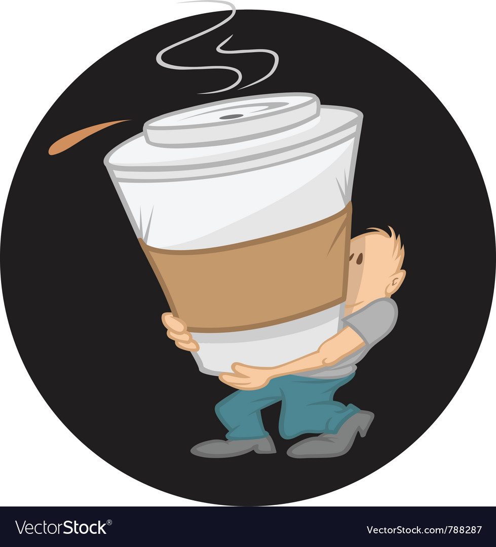 Coffee large vector image