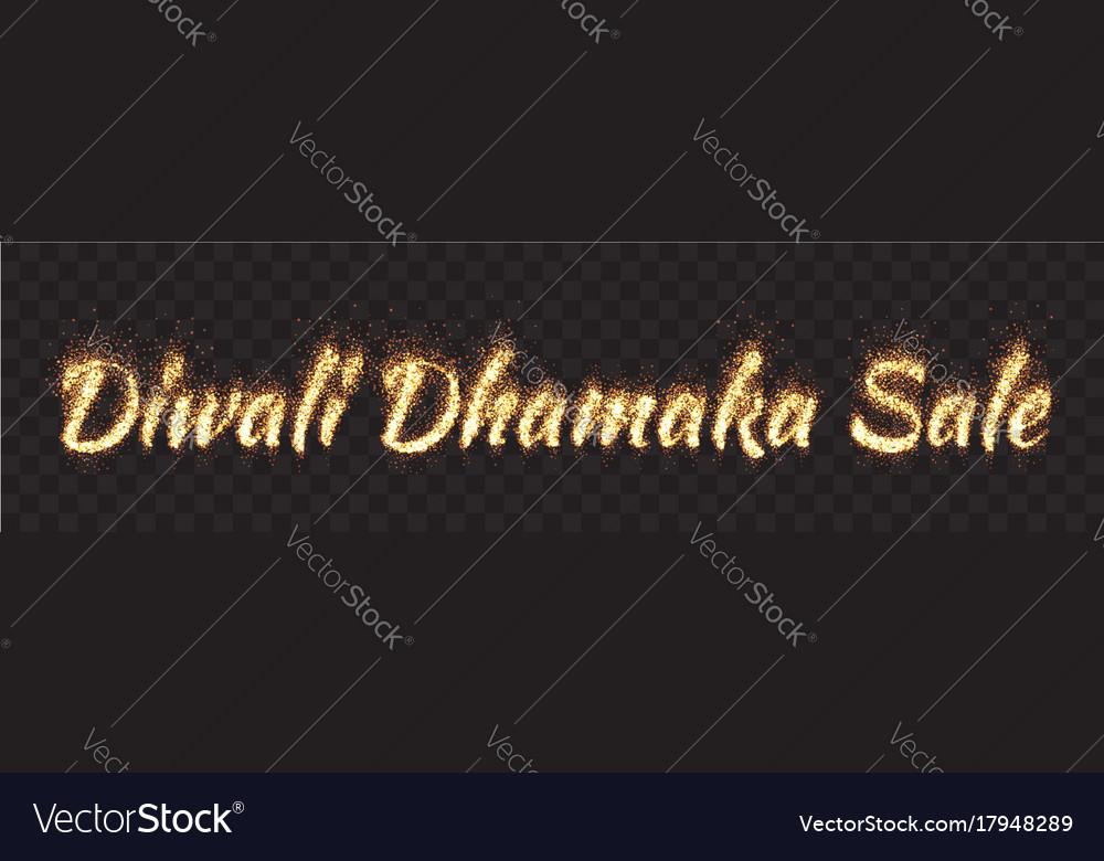 Diwali dhamaka sale text banner vector image