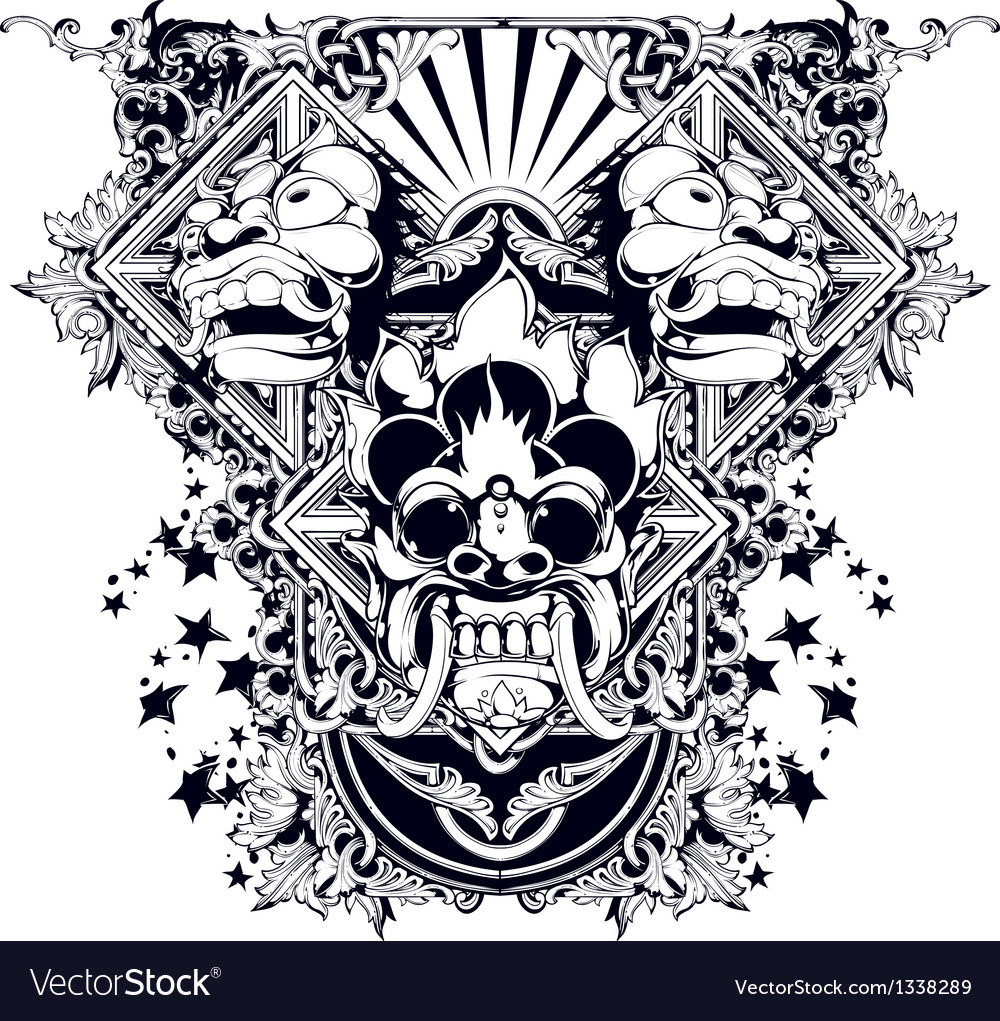 Evil design vector image