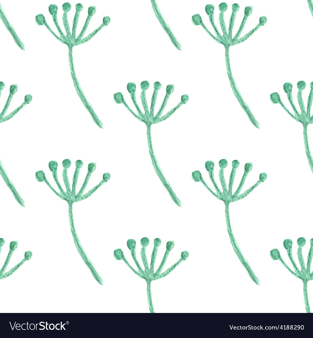 Watercolor painted floral seamless pattern vector image