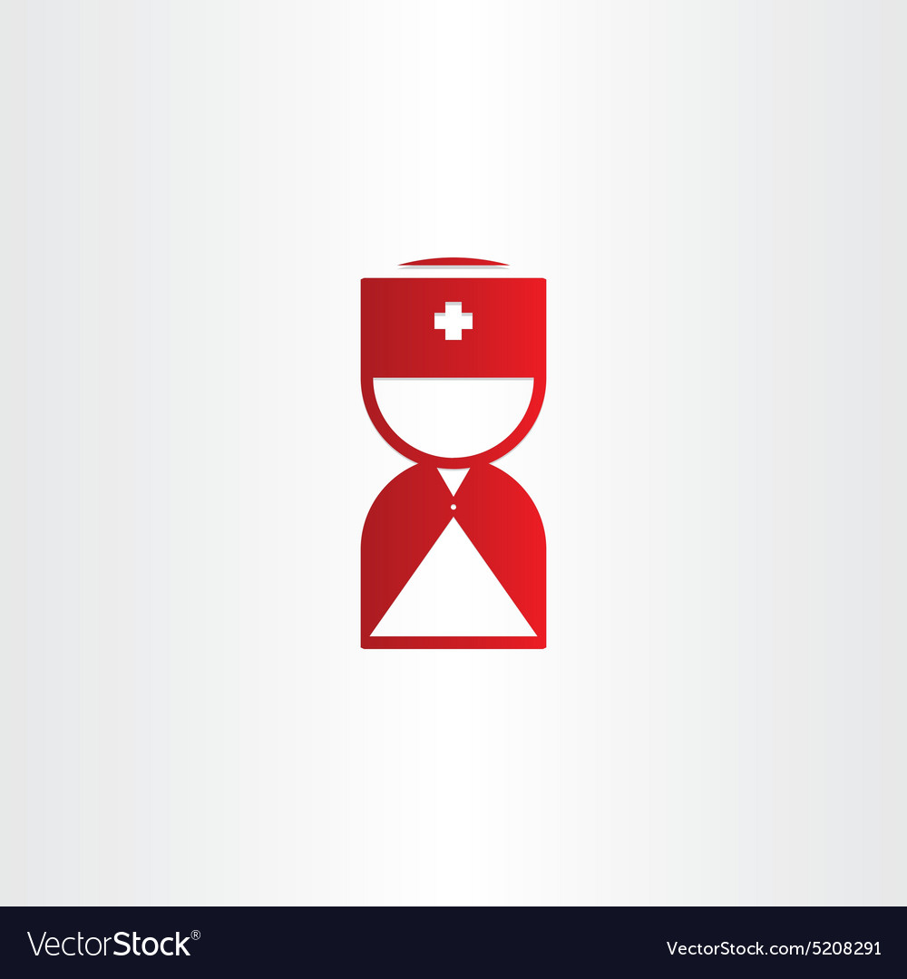 Doctor medical man first aid red icon vector image