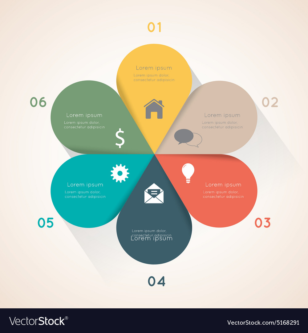Flower infographic template for diagram royalty free vector flower infographic template for diagram vector image pooptronica Images