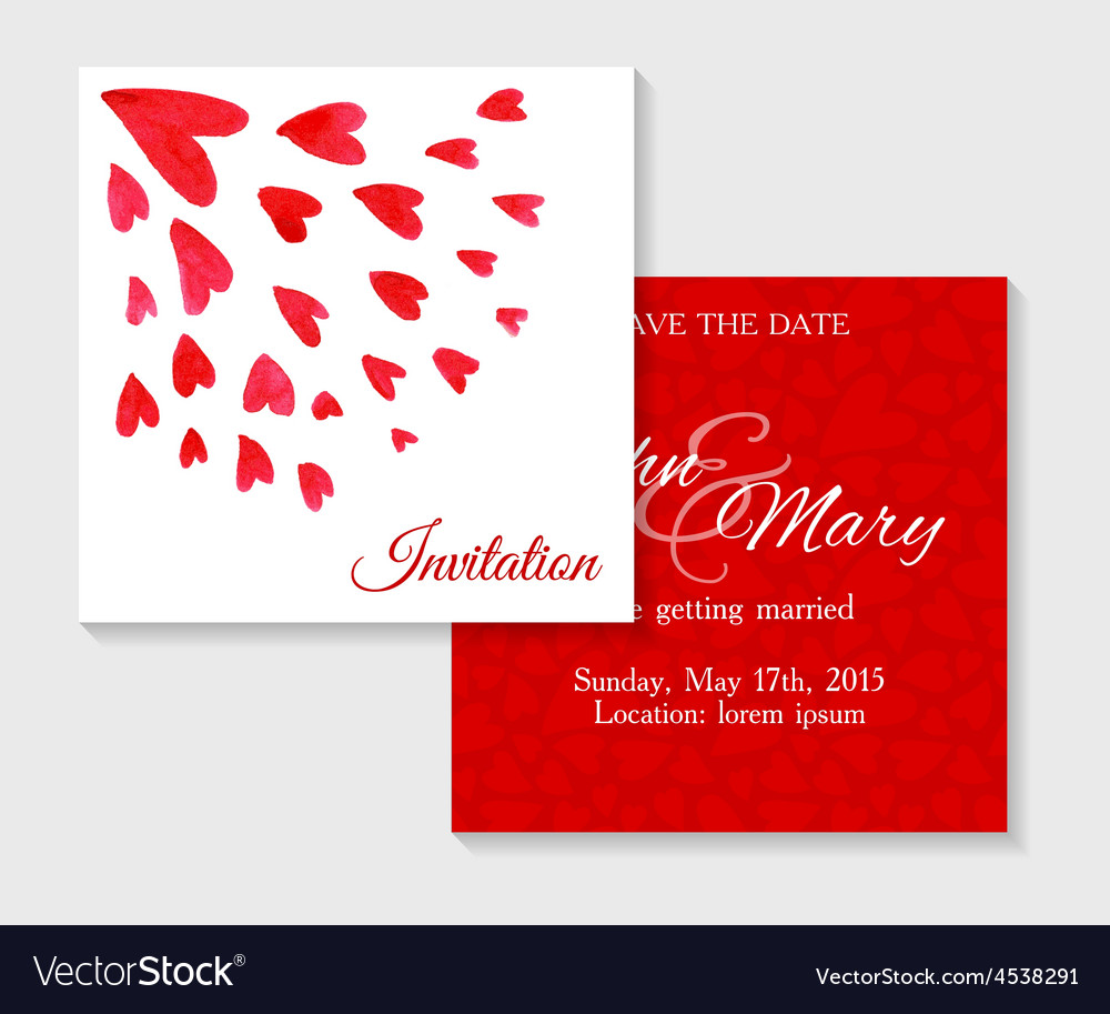 Invitation cards with watercolor elements vector image invitation cards with watercolor elements vector image stopboris Image collections
