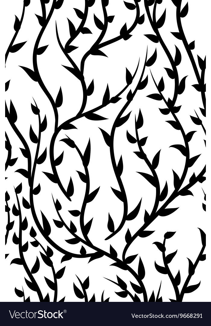 Seamless pattern with floral ornaments vector image