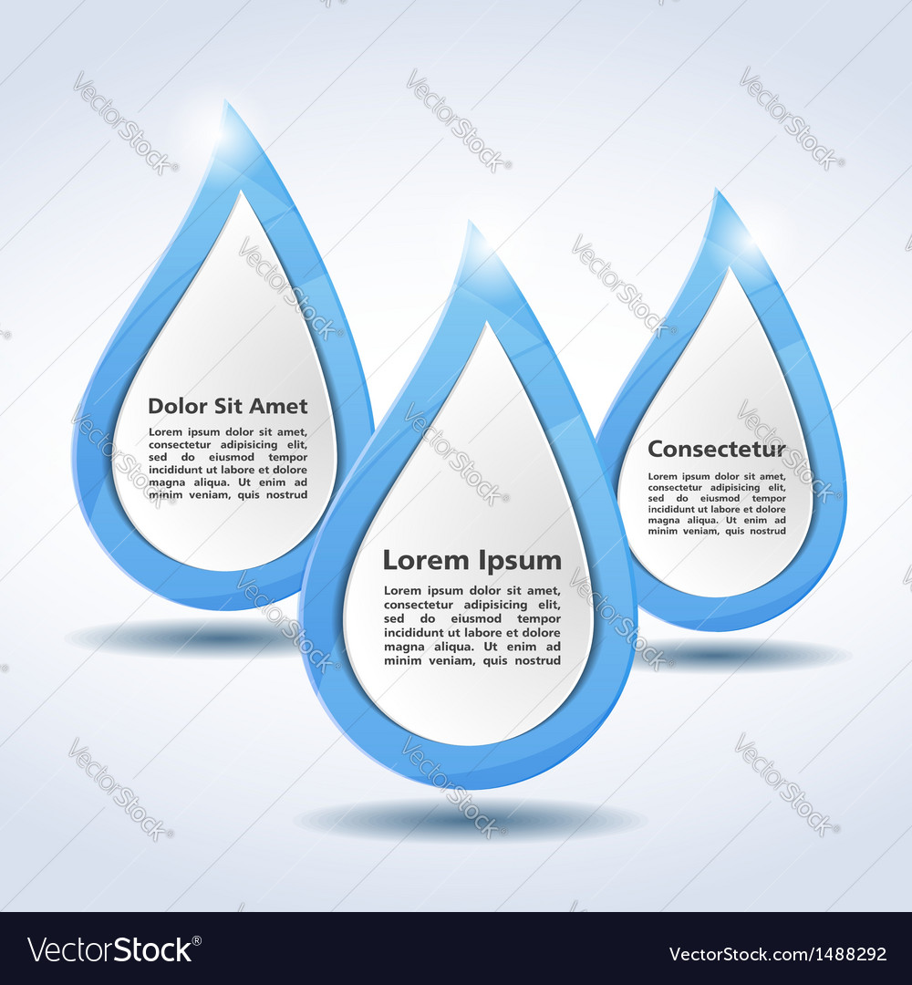 Abstract Water Drops vector image