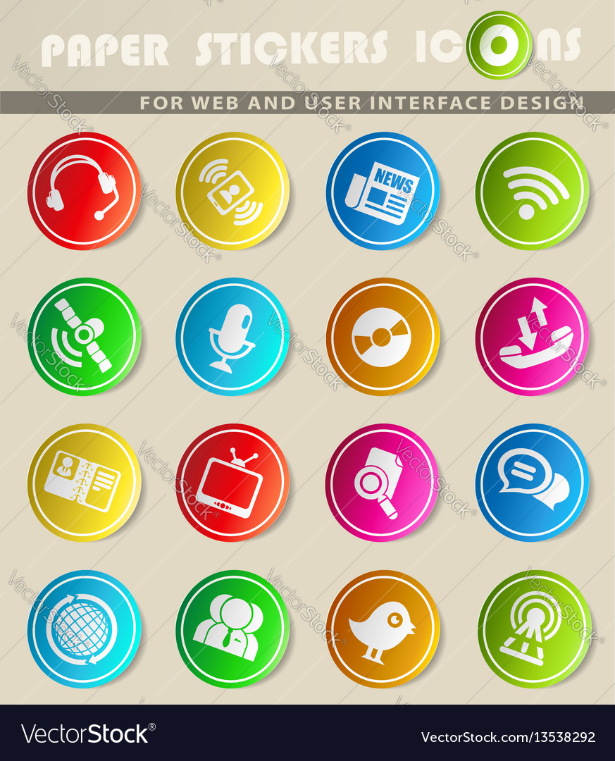 Communication icon s vector image