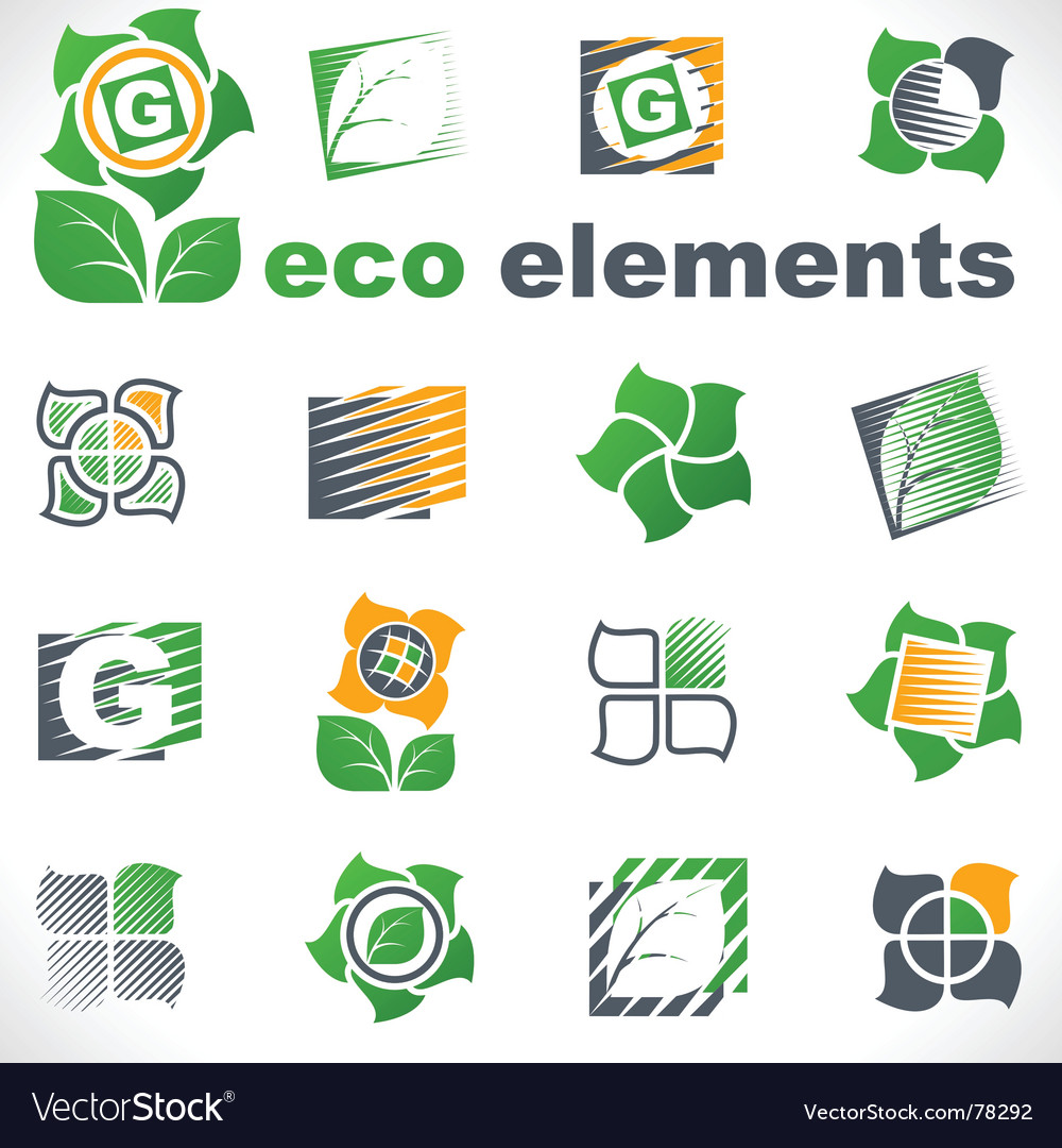 Design elements eco vector image