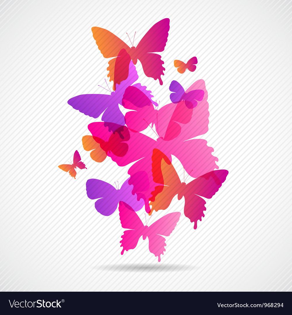 Butterflies Design Background vector image