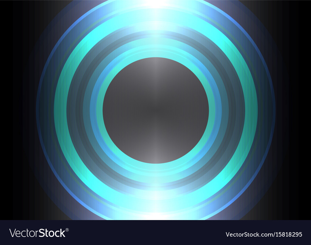 Circle wave abstract background vector image