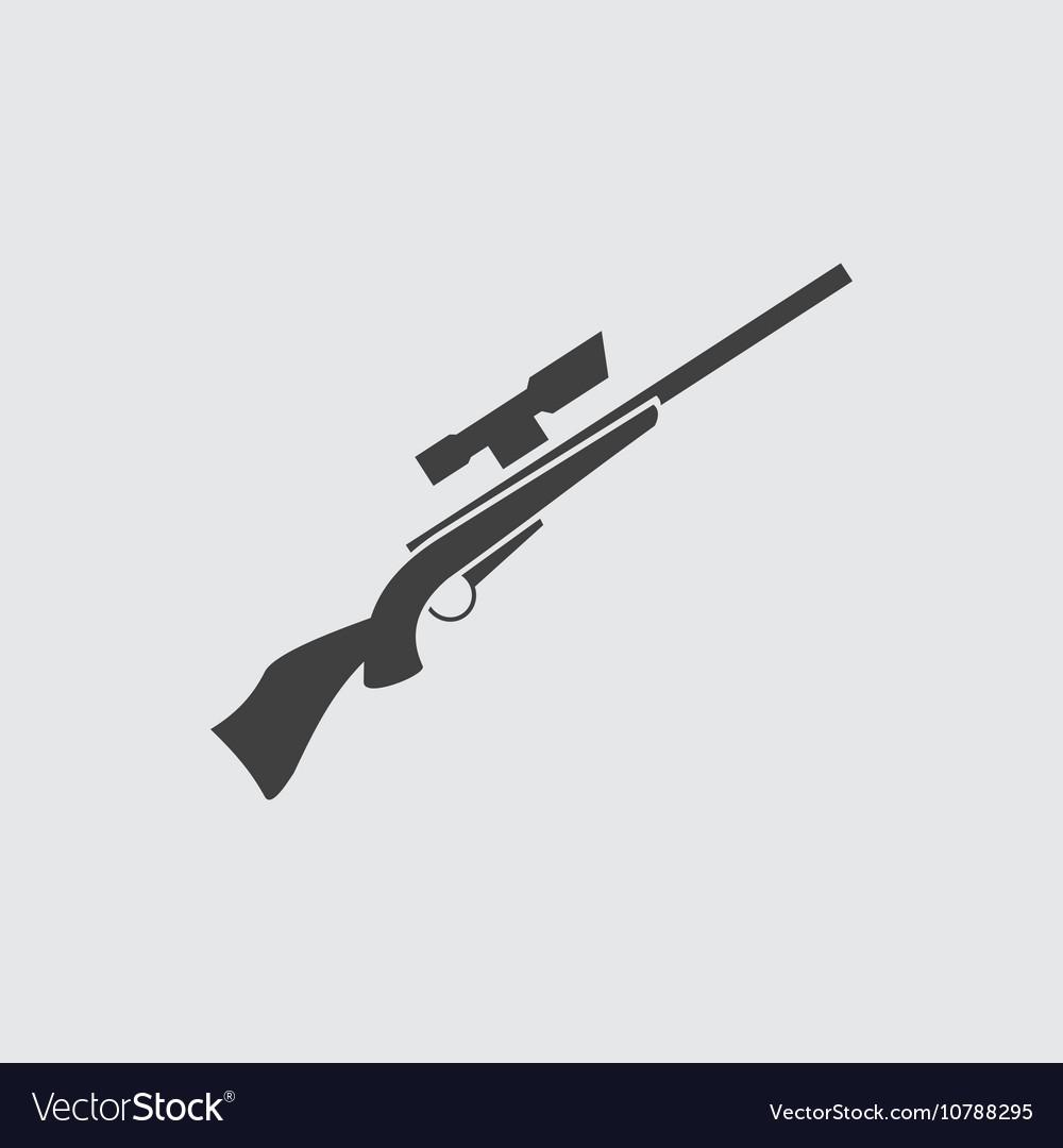 Rifle gun icon vector image