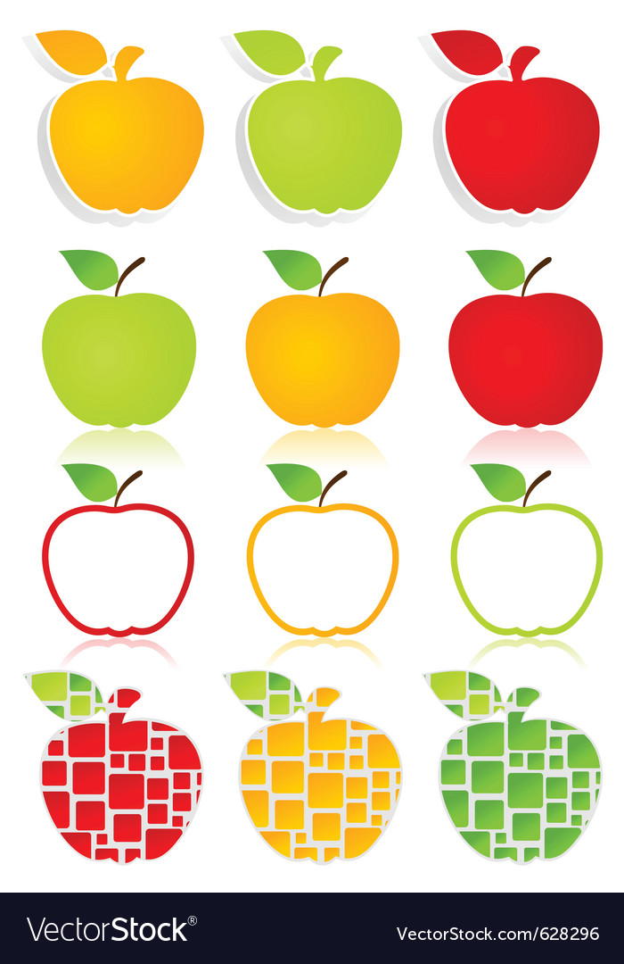 Apples icons vector image