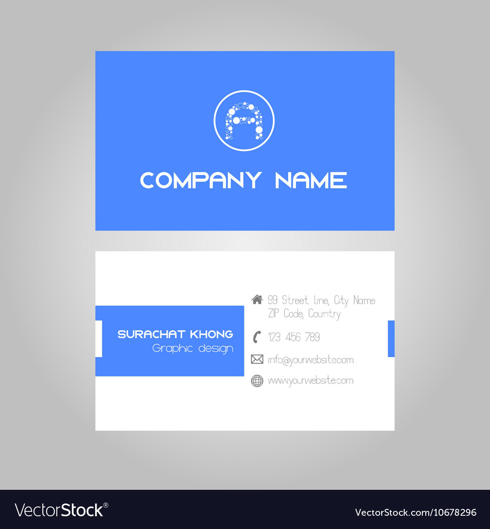 Blue business card royalty free vector image vectorstock blue business card vector image reheart Images