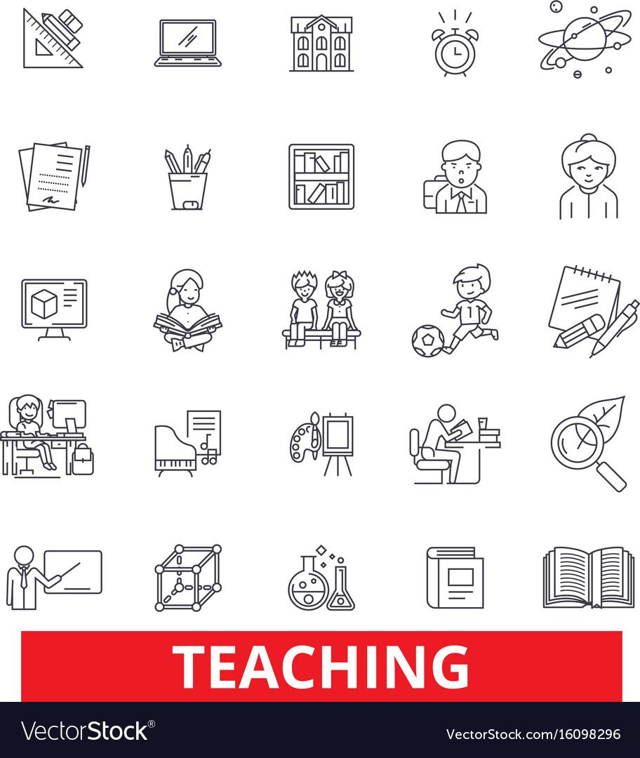 Teaching education training instruction vector image