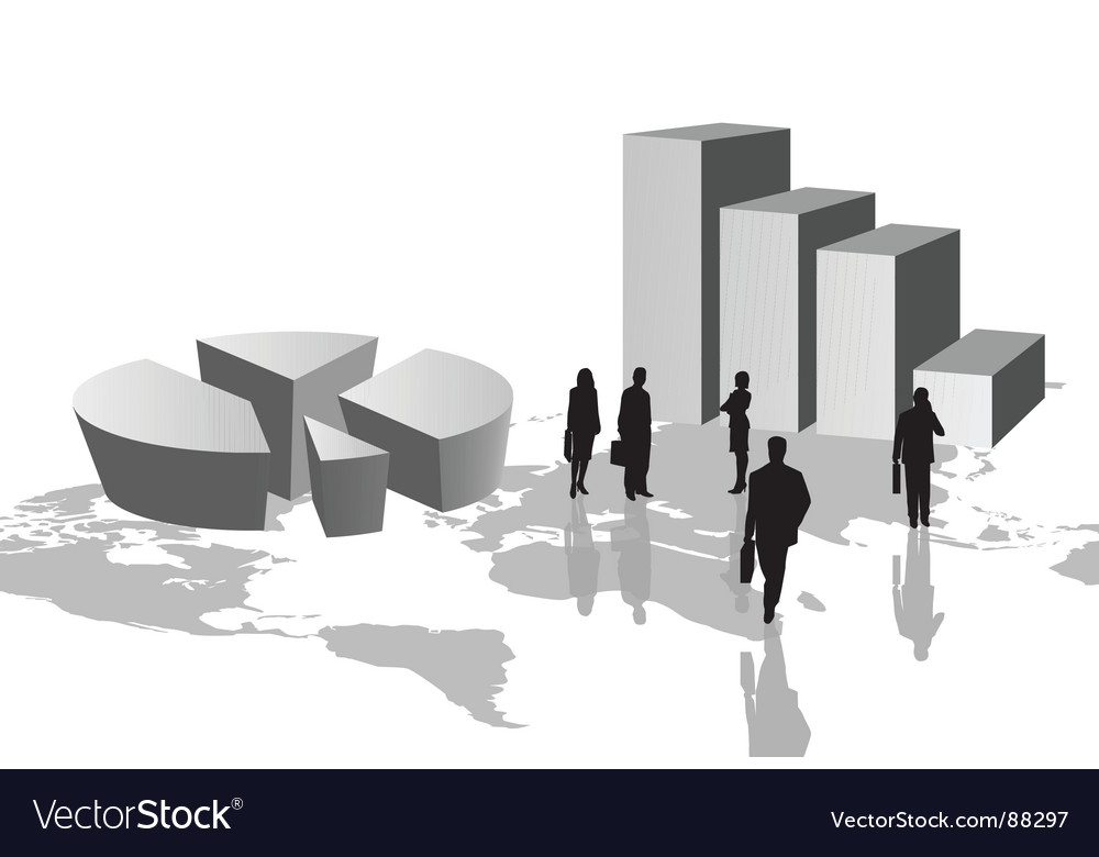 Graph figures vector image