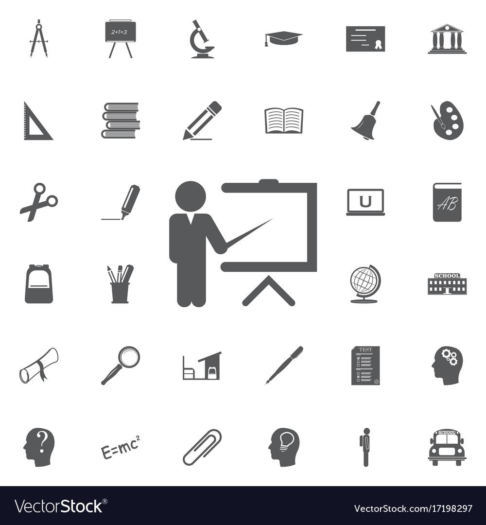 Teacher icon trainer symbol modern vector image