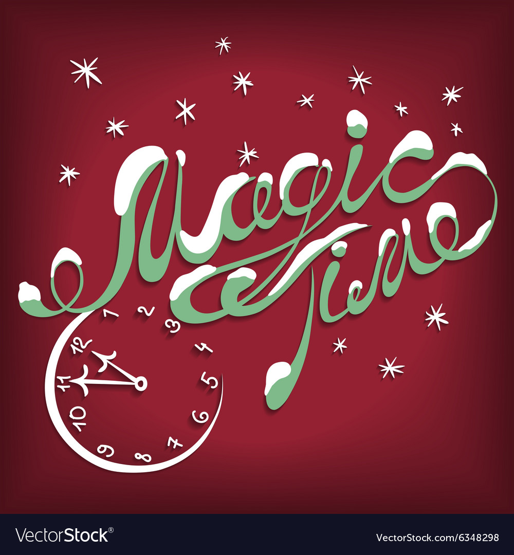 Card magic time vector image