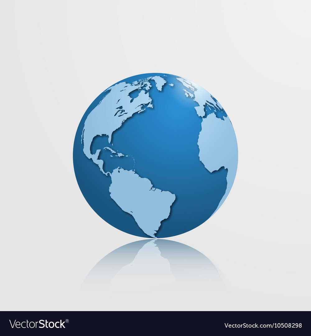 Globe with south america vector image