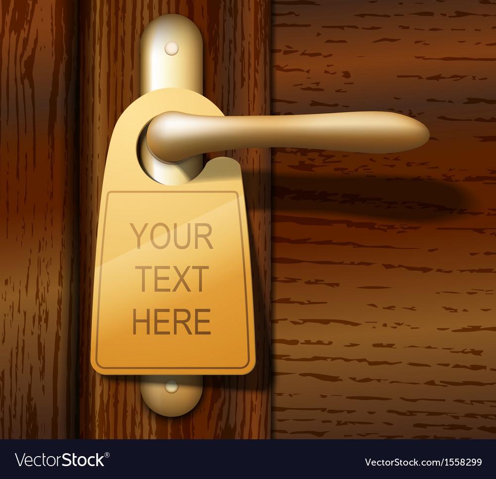 Door Hanger vector image