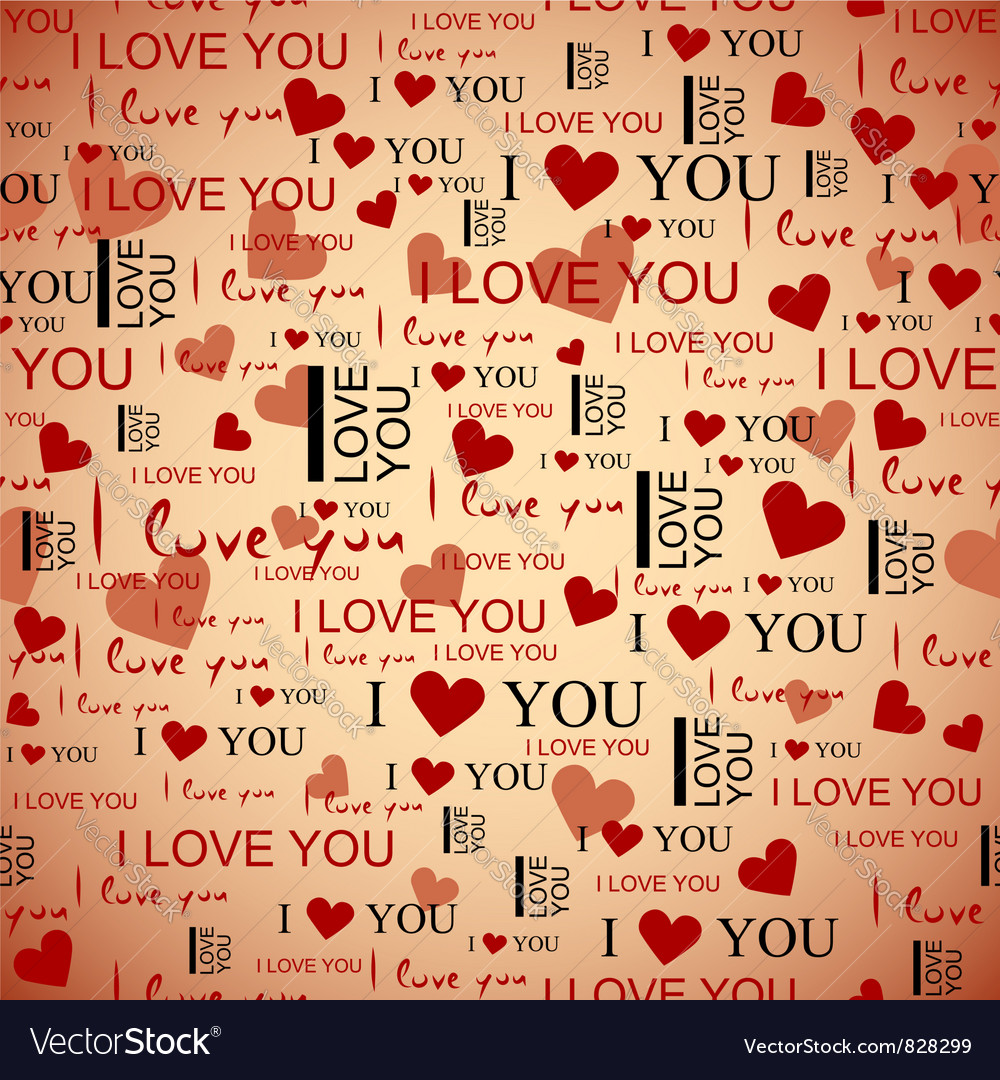 Valentines Seamless Pattern vector image