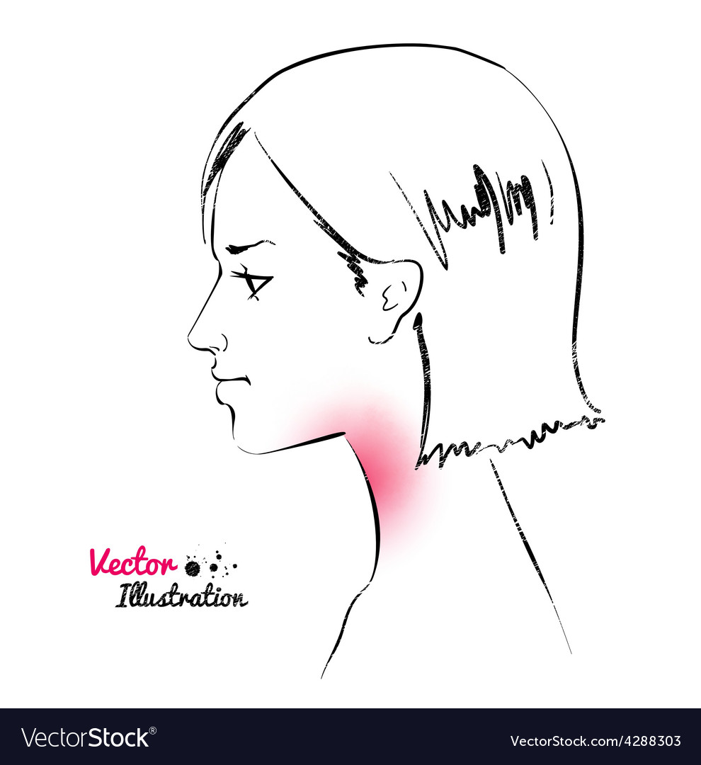 Sore throat vector image