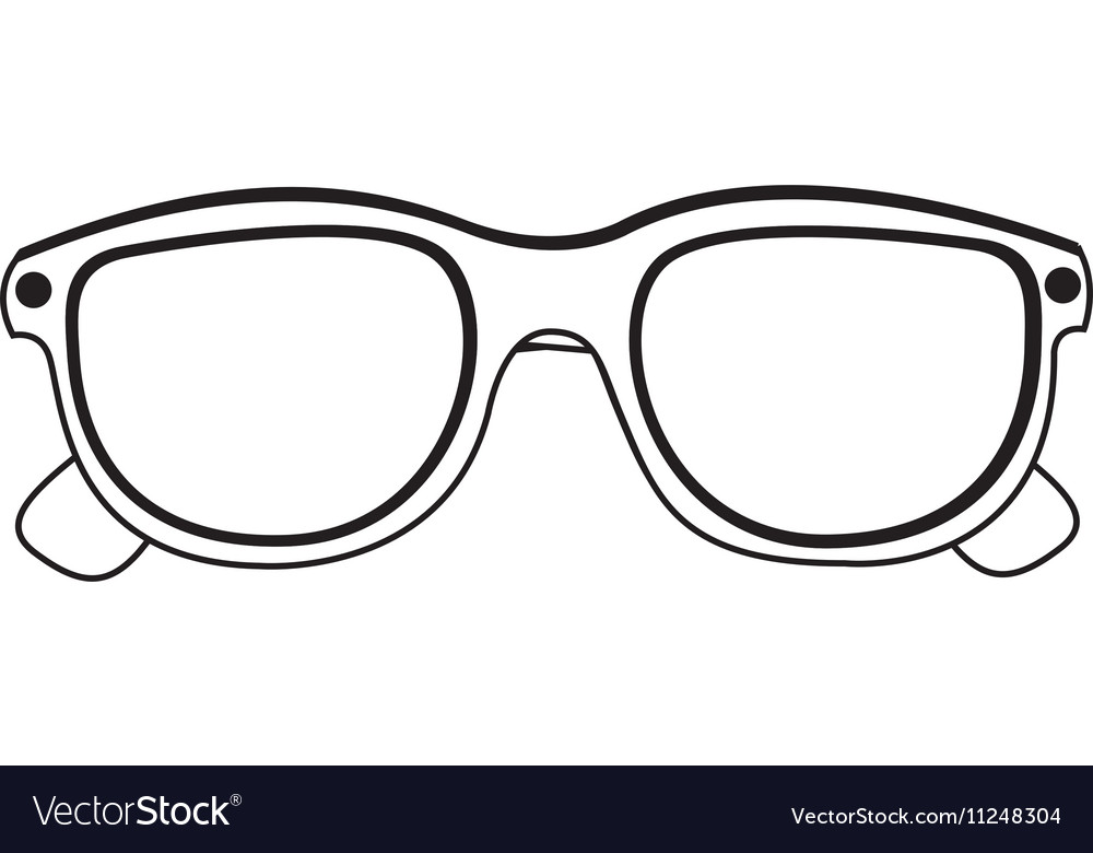 Glasses isolated icon image vector image