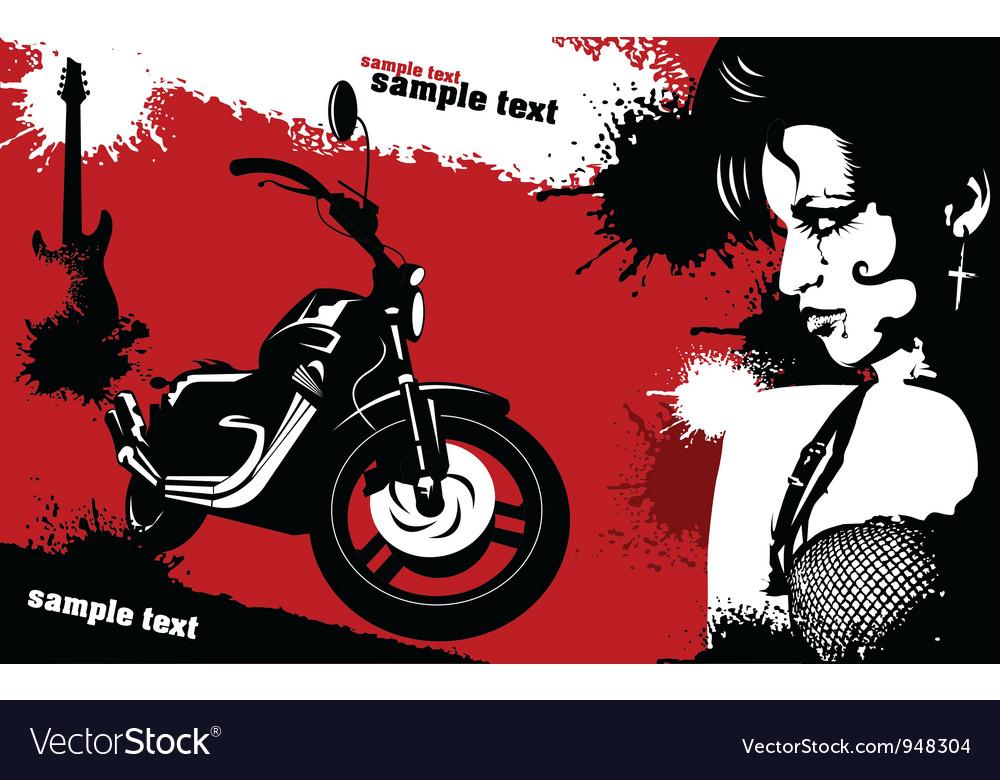 Grunge Music background vector image