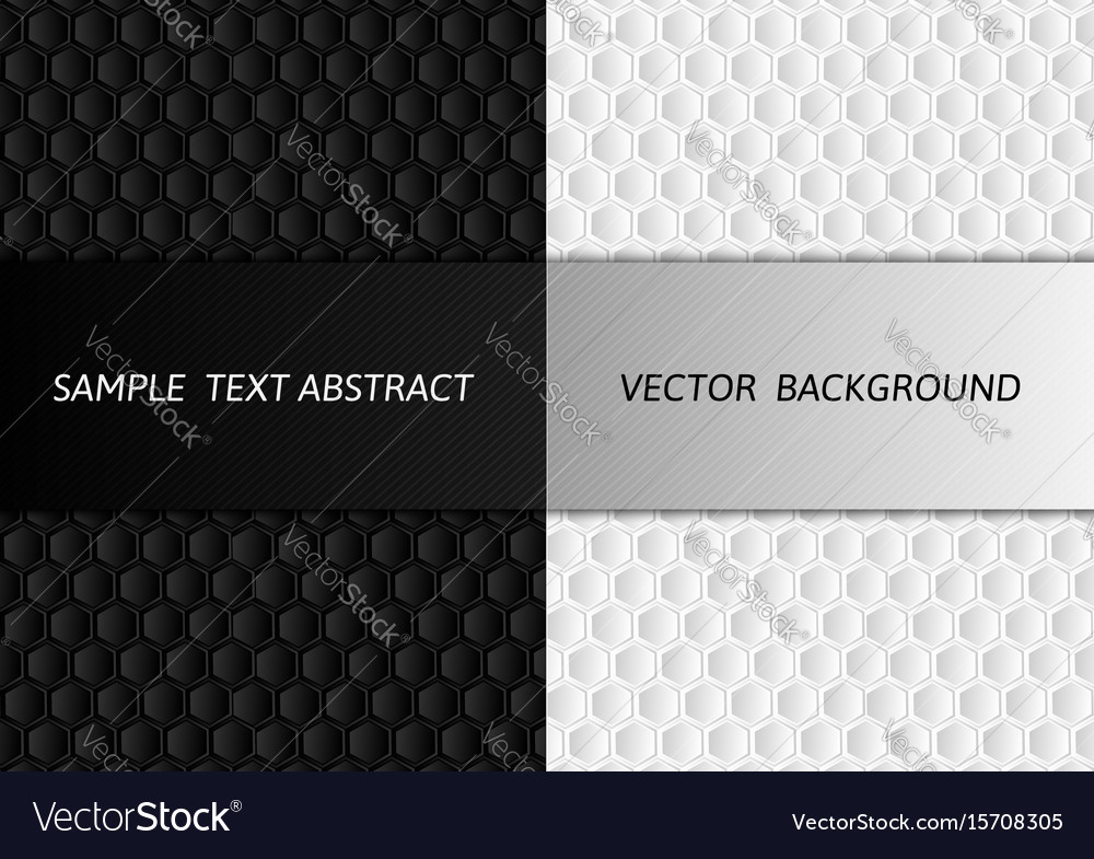 Hexagon white and black abstract background with vector image
