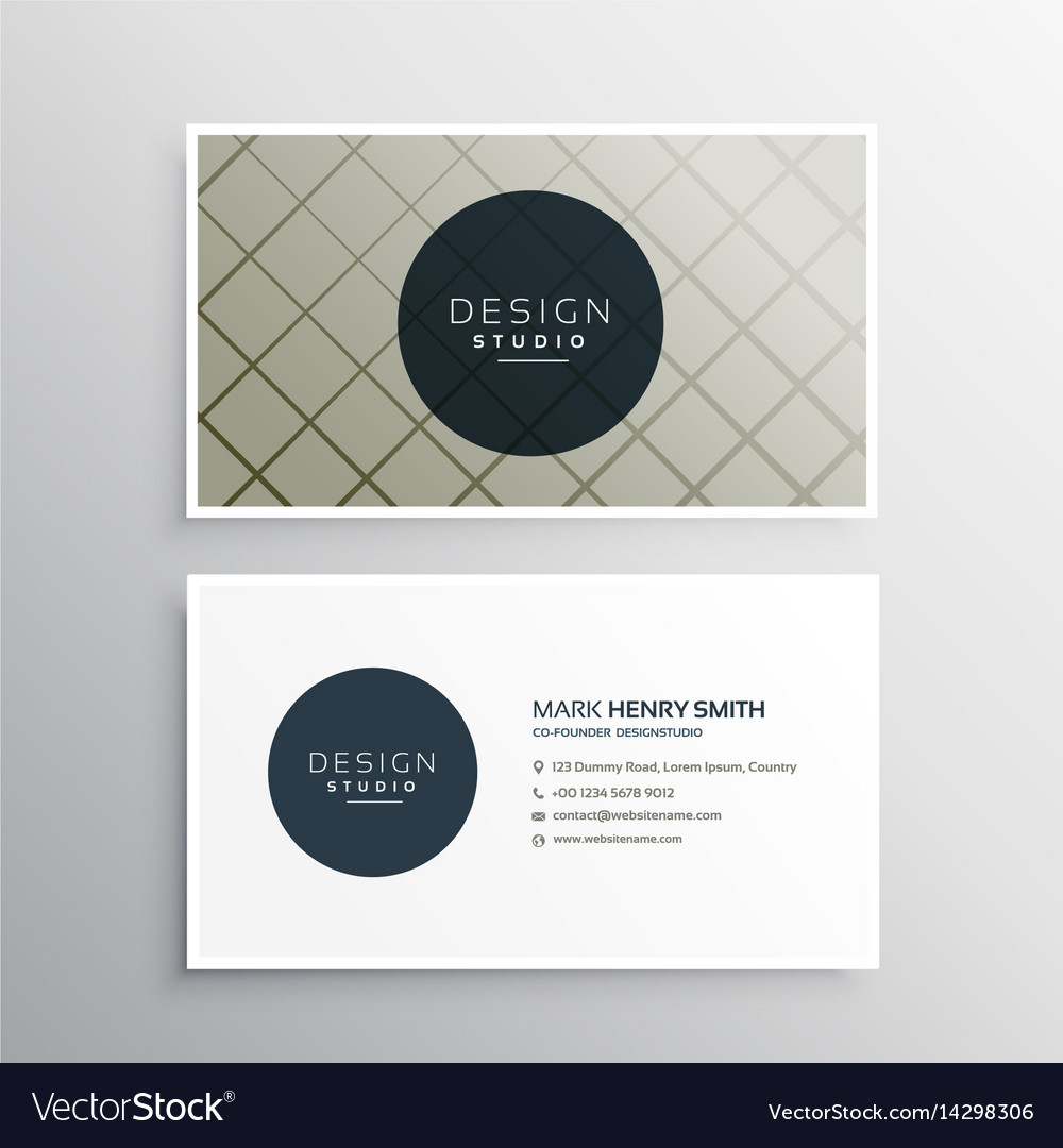 Modern elegant business card template design with Vector Image