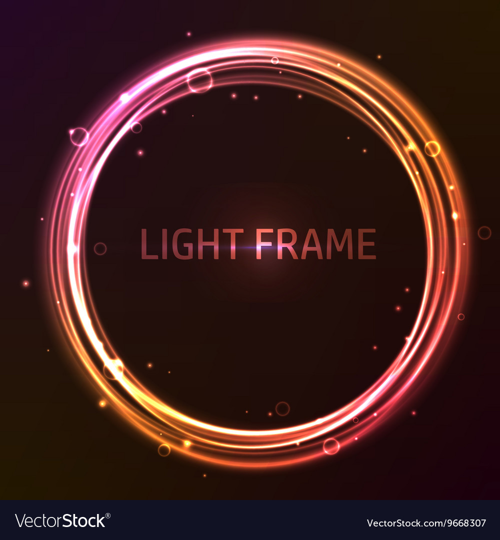 Colorful glowing frame vector image