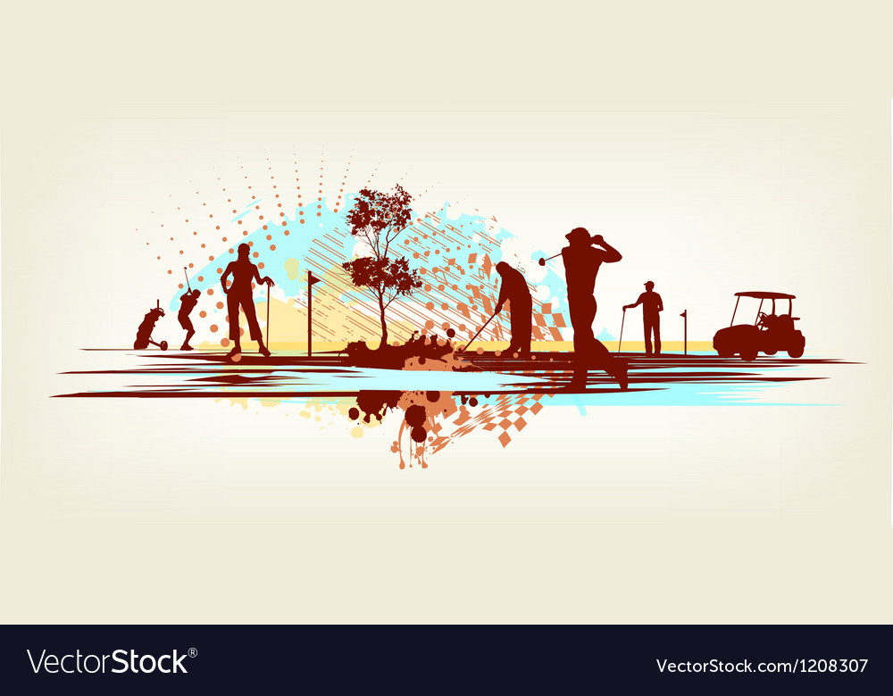 Golf club background vector image