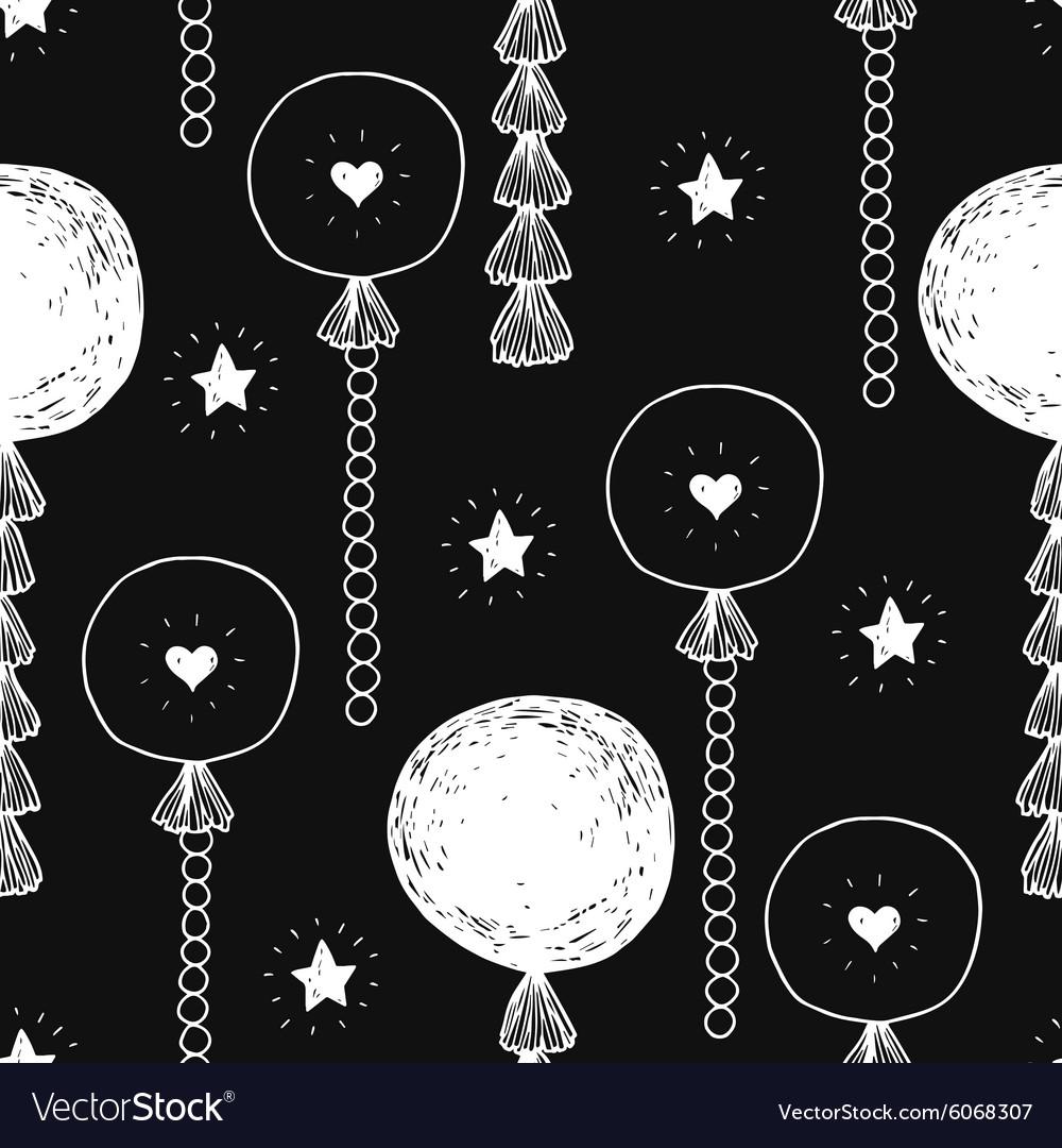 Hand drawn happy birthday background vector image