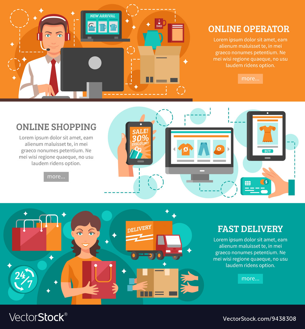 E-commerce Banners Set vector image
