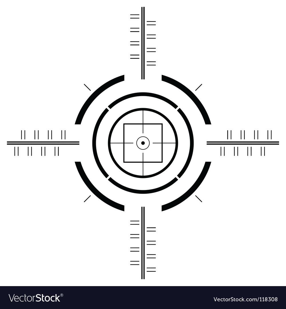 Gun sight template vector image