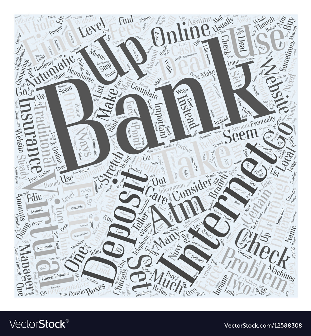 Internet Banking with Virtual Banks Word Cloud vector image