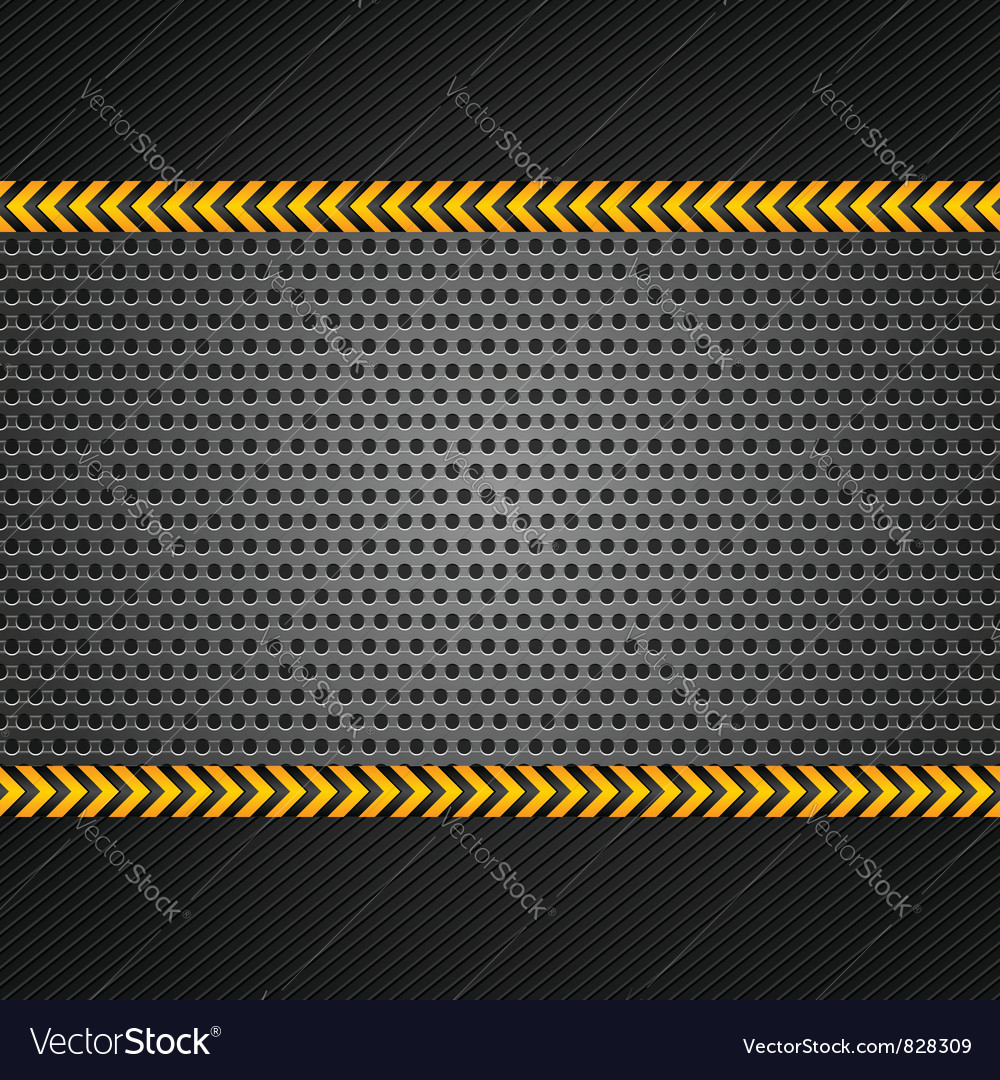 Punched metal surface template vector image