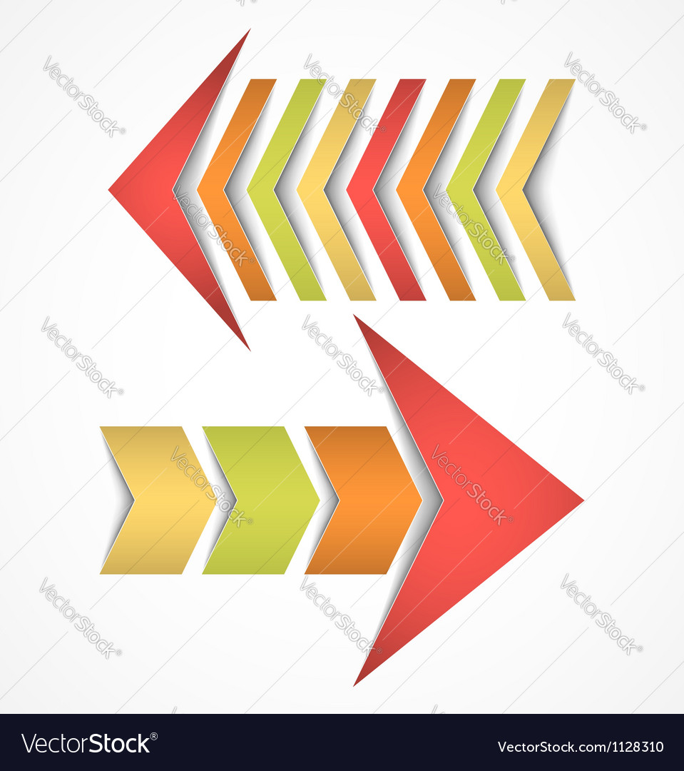 Two arrows concepts vector image