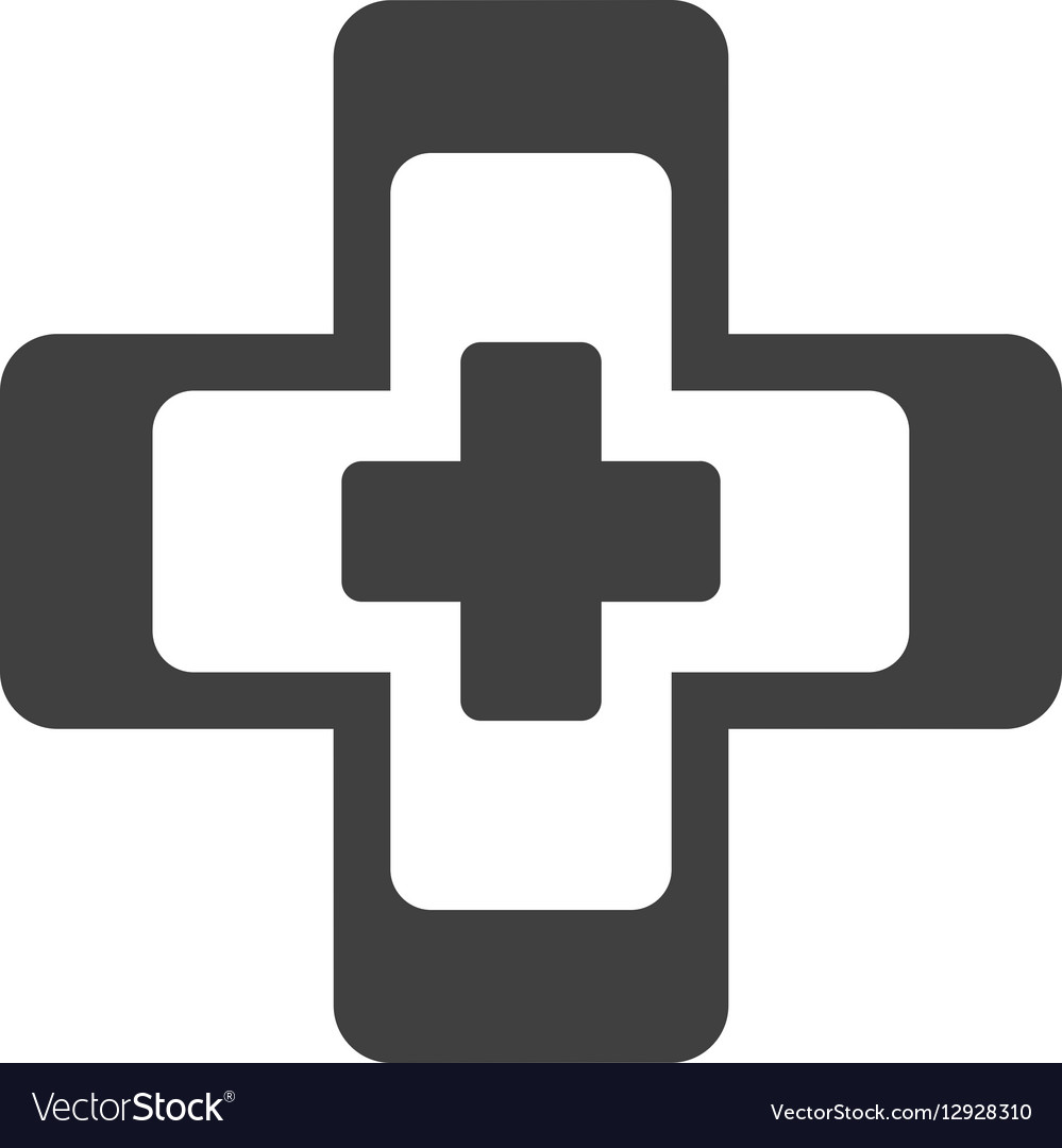 Cross medical health symbol vector image