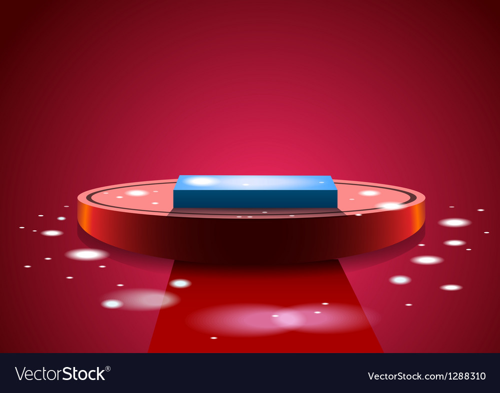Red podium vector image